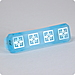 Aegean Blue etched glass 3 inch  pull