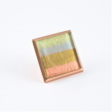 1 1/4  inch small  cabinet  knob-Pastel Striped Glass with Copper Base