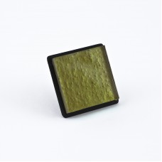 1 1/4 Inch Small Cabinet Knob Olive Green Textured Glass With Matte Black