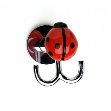 Ladybug Double Hook-Polished Chrome