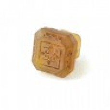 Etched Glass 1 1/4 Inch Cabinet Knob-Amber Gold
