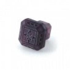 Etched Glass 1 1/4 Inch Furniture Knob -Amethyst Purple