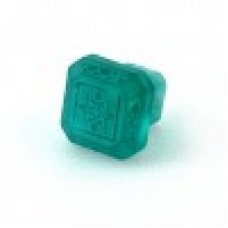Etched Glass 1 1/4 Inch Cabinet Knob-Turquoise Green