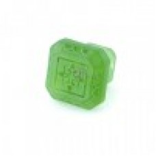 Etched Glass 3 Inch CTC Cabinet Knob -Spring Grass Green
