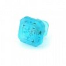 Etched Glass 1 1/4 Inch Furniture Knob-Aegean Blue
