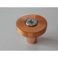Modern Forms Collection -Polished Copper Cabinet Knob