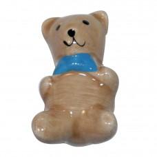 Teddy Bear Cabinet Knob-Baby Blue Bowtie