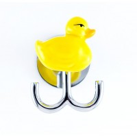 Yellow Ducky Double Robe Hook-Polished Chrome