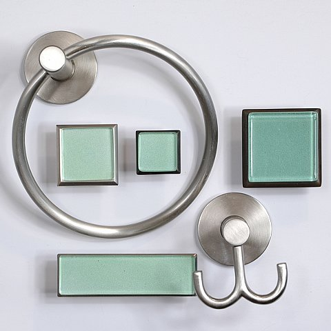art glass cabinet knobs pulls bottle glass green